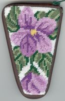 click here to view larger image of Sweet Violets Scissor Case (needlepoint kits)