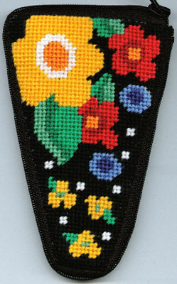 click here to view larger image of Floral Scissor Case (needlepoint kits)
