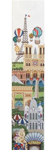 click here to view larger image of Bell Pull - Paris (hand painted canvases)