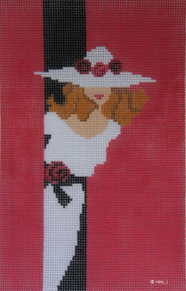 click here to view larger image of Lady in Hat   (hand painted canvases)