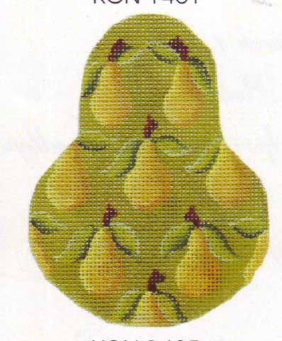 click here to view larger image of Yellow Bartlett  Pear Ornament Stitch Guide (books)
