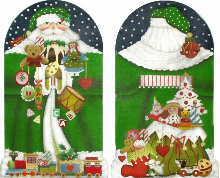 click here to view larger image of Toy Santa (2 sided) 13M (hand painted canvases)
