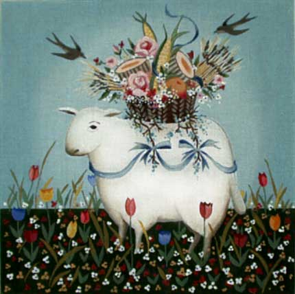 click here to view larger image of Tulip Lamb (hand painted canvases)