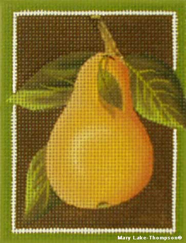 click here to view larger image of Christmas Pear (hand painted canvases)