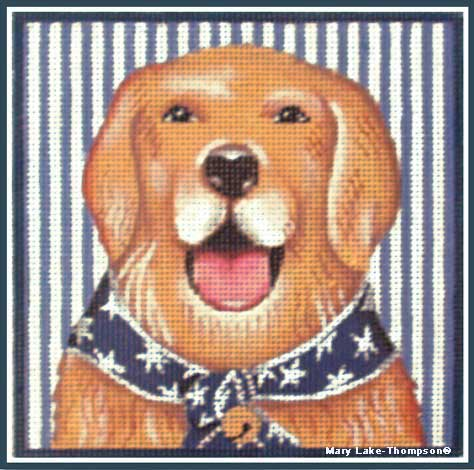 click here to view larger image of 4th of July Golden (hand painted canvases)