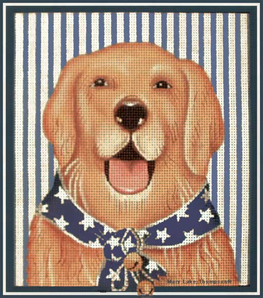 click here to view larger image of 4th July Golden (hand painted canvases)