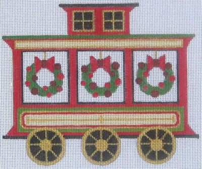 click here to view larger image of Caboose  (hand painted canvases)