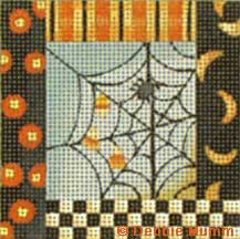 click here to view larger image of Spider Web (hand painted canvases)