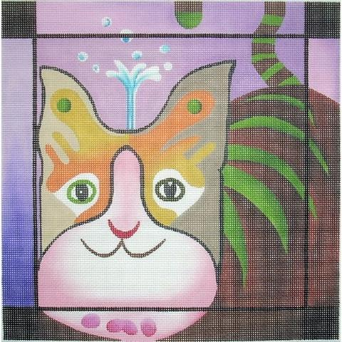 click here to view larger image of Cat 1 (hand painted canvases)