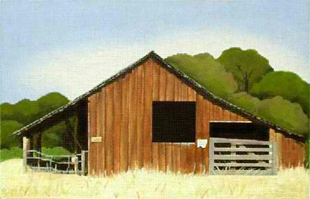 click here to view larger image of Brown Barn (hand painted canvases)