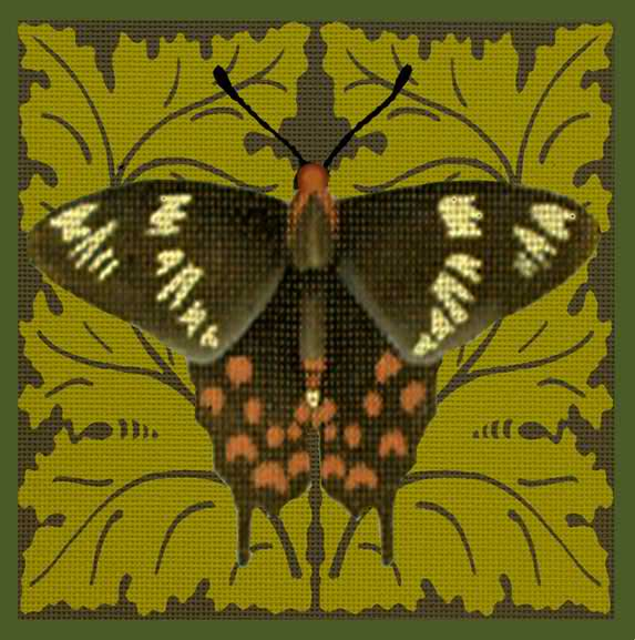 click here to view larger image of Black/White Butterfly (hand painted canvases)