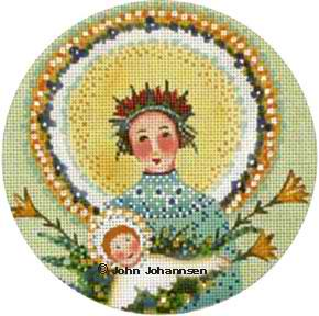 click here to view larger image of Blue and Yellow Madonna (hand painted canvases)