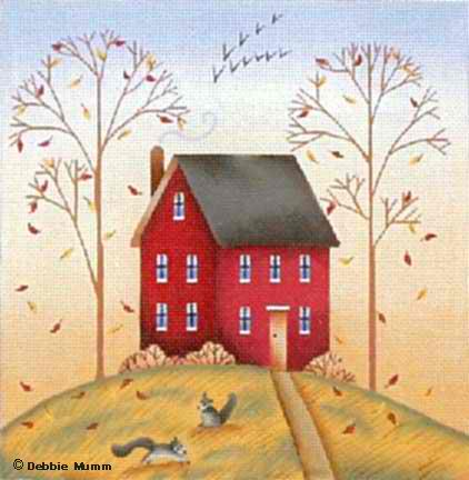 click here to view larger image of Fall House (hand painted canvases)