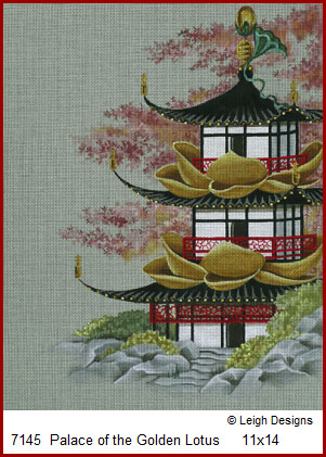 click here to view larger image of Palace of the Golden Lotus (hand painted canvases)
