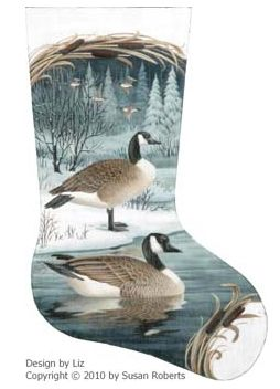 click here to view larger image of Canadian Geese Stocking (hand painted canvases)