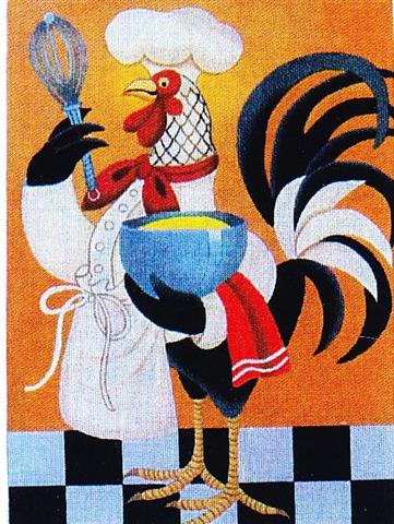 click here to view larger image of Rooster Chef (hand painted canvases)