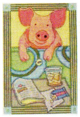 click here to view larger image of When Pigs Fly (hand painted canvases)