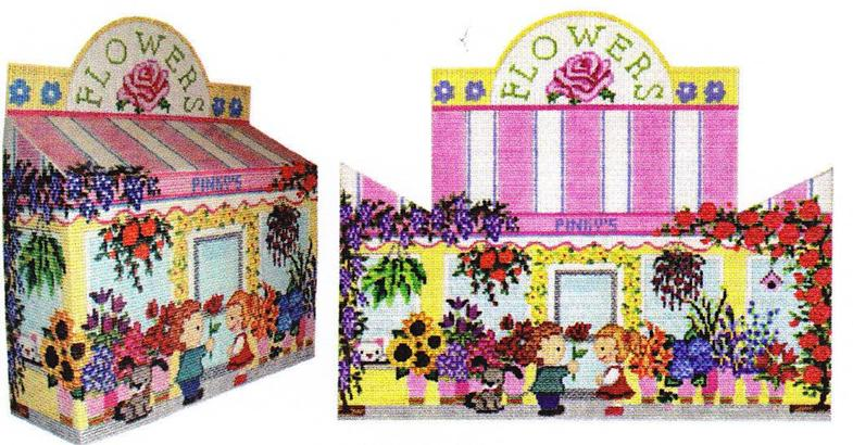 click here to view larger image of Flower Shop Door Stop (hand painted canvases)