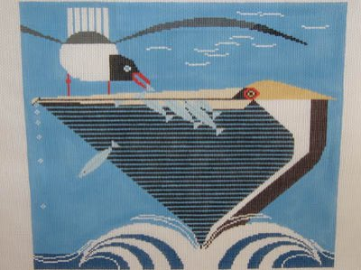 click here to view larger image of Pelican Pantry (hand painted canvases)