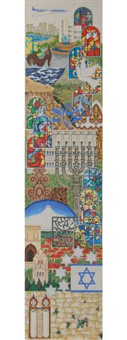 click here to view larger image of Bell Pull - Israel (hand painted canvases)