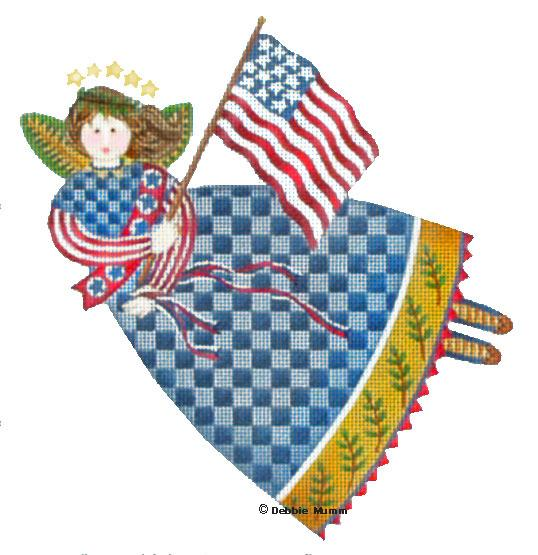 click here to view larger image of 4th of July Angel - 18 mesh (hand painted canvases)