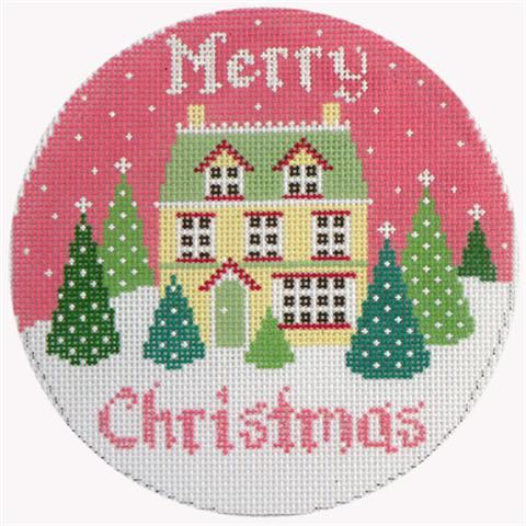 click here to view larger image of Merry Christmas House (hand painted canvases)