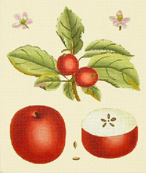 click here to view larger image of Red Apple Botanical (hand painted canvases)