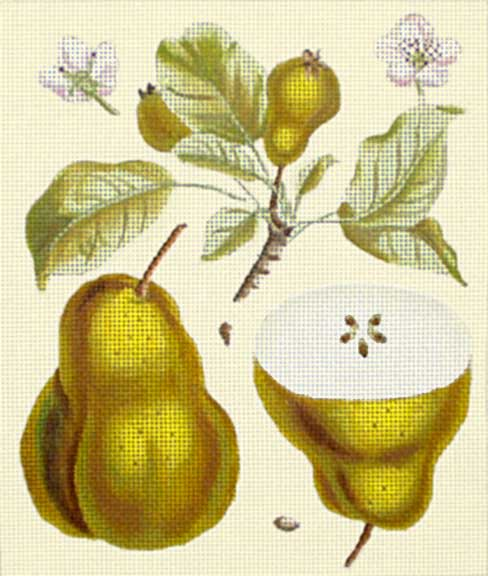 click here to view larger image of Gold Pear Botanical (hand painted canvases)