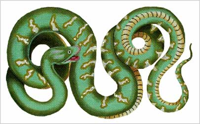click here to view larger image of Green Serpent (hand painted canvases)