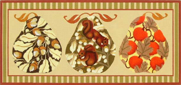 click here to view larger image of Fall Pears With Squirrels (hand painted canvases)