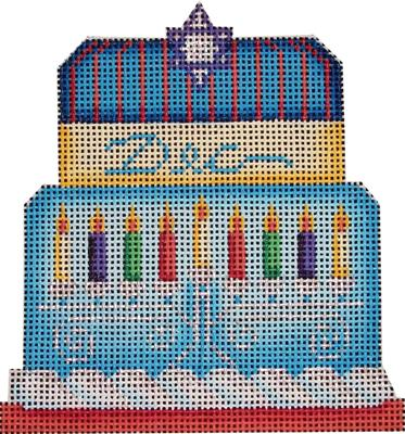 click here to view larger image of Judaic Baby Cake - 18Mesh (hand painted canvases)
