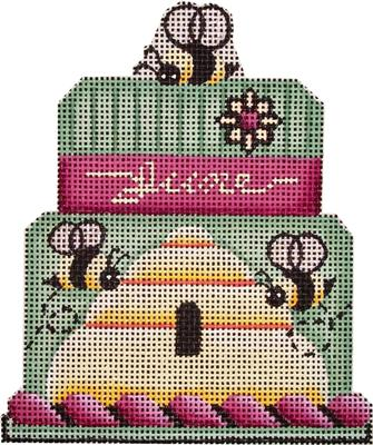 click here to view larger image of June  Baby Cake - 18 Mesh (hand painted canvases)