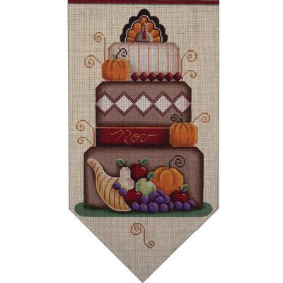 click here to view larger image of November Banner Cake 18 Mesh (hand painted canvases)