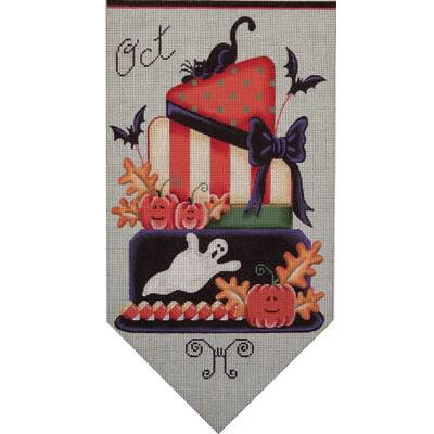 click here to view larger image of October Banner Cake 18 Mesh (hand painted canvases)