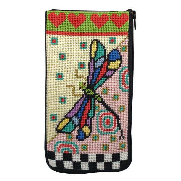 click here to view larger image of Dragonfly Eye Glass Case (w/floss) (needlepoint kits)
