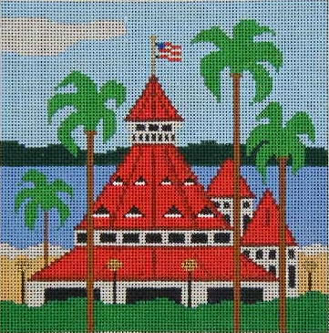 click here to view larger image of Hotel Del Coronado (hand painted canvases)