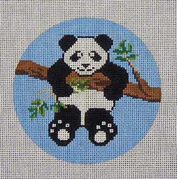 click here to view larger image of Panda Ornament (hand painted canvases)
