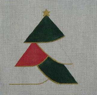 click here to view larger image of Patchwork Christmas Tree (hand painted canvases)