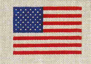 click here to view larger image of Flag (hand painted canvases)
