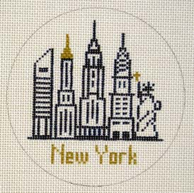 click here to view larger image of New York Ornament (hand painted canvases)