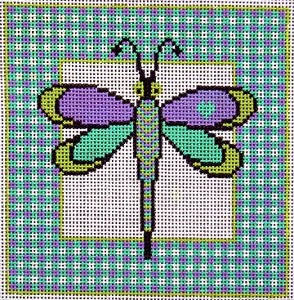 click here to view larger image of Dragonfly (hand painted canvases)