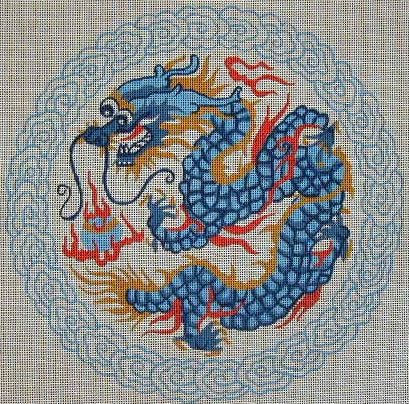 click here to view larger image of Blue Dragon (hand painted canvases)