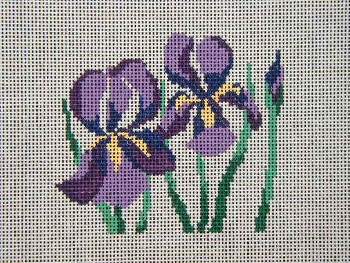 click here to view larger image of Iris (hand painted canvases)