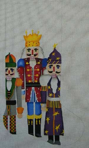 click here to view larger image of Nutcracker II Stocking (hand painted canvases)