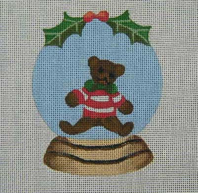 click here to view larger image of Snow Globe Teddy (hand painted canvases)