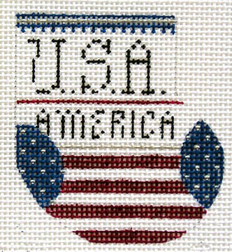 click here to view larger image of 4th of July Wee Stocking (18 mesh) (hand painted canvases)