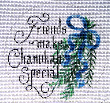 click here to view larger image of Friends Make Chanukah Special (hand painted canvases)