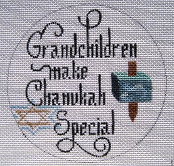 click here to view larger image of Grandchildren Make Chanukah Special (hand painted canvases)