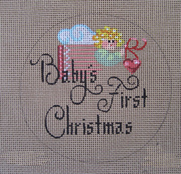 click here to view larger image of Baby's 1st Christmas (hand painted canvases)