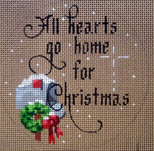 click here to view larger image of All Hearts Go Home For Christmas (hand painted canvases)